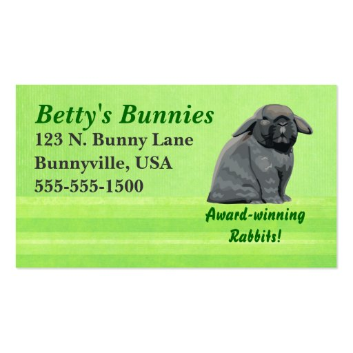 Holland Lop Biz Cards Business Cards