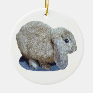 Holland Lop Ear Rabbit Ornament