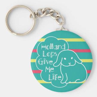 Holland Lops Give Me Life Custom Keychain