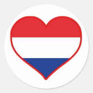 Holland Love Round Sticker