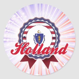Holland, MA Round Stickers