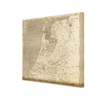 Holland Map by Arrowsmith Canvas Print