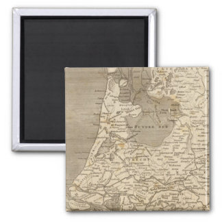 Holland Map by Arrowsmith Square Magnet