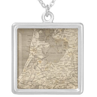 Holland Map by Arrowsmith Silver Plated Necklace