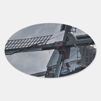 Holland MI Windmill Oval Sticker