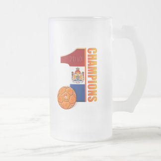 Holland No 1 Champions 2010 Frosted Glass Mug