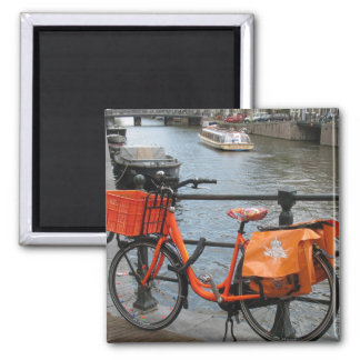 Holland Orange Bicycle Fridge Magnet