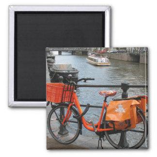 Holland Orange Bicycle Fridge Magnet