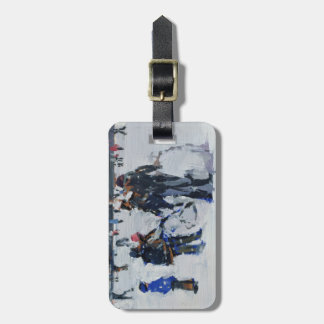 Holland Park in snow 2009 Luggage Tag
