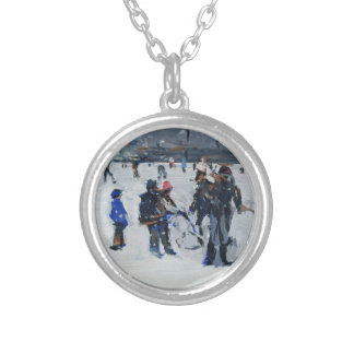 Holland Park in snow 2009 Silver Plated Necklace