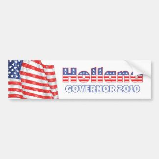 Holland Patriotic American Flag 2010 Elections Car Bumper Sticker