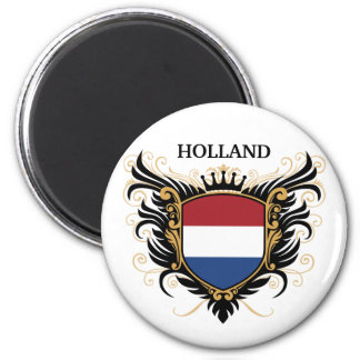 Holland [personalize] 6 cm round magnet