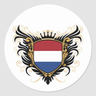 Holland [personalize] classic round sticker
