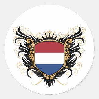 Holland [personalize] round sticker