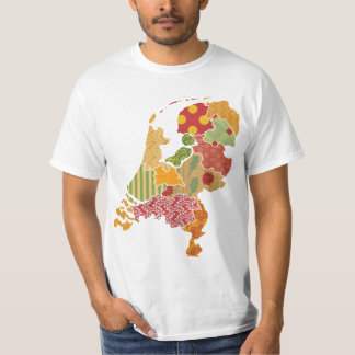 Holland Province Map Bohemian Patchwork Style T-Shirt