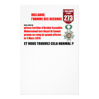 Holland Record Legions of Honor - Letterhead Stationery Design