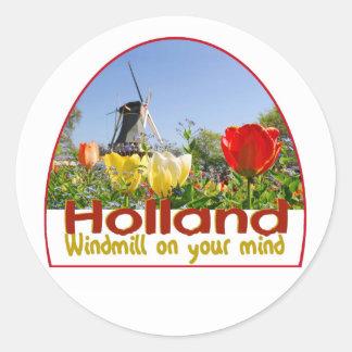 HOLLAND ROUND STICKER