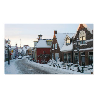 Holland Snow Village Photo Card Pack Of Standard Business Cards