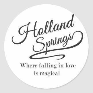 Holland Springs Collection Round Sticker