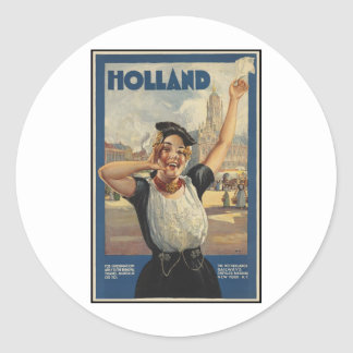 Holland Round Stickers