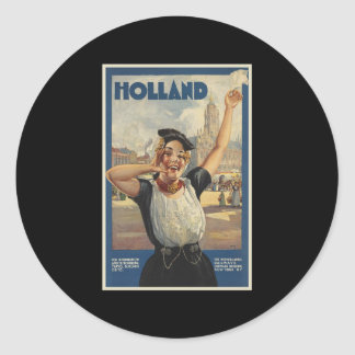 Holland Round Sticker