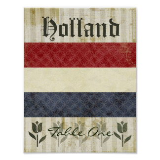 Holland Table Number Poster
