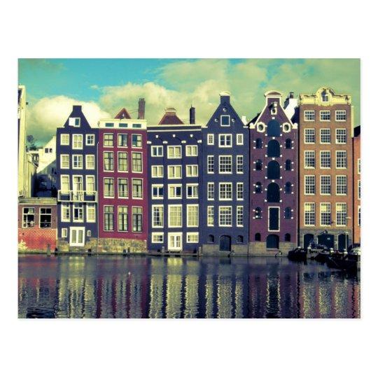 Holland vintage houses postcard