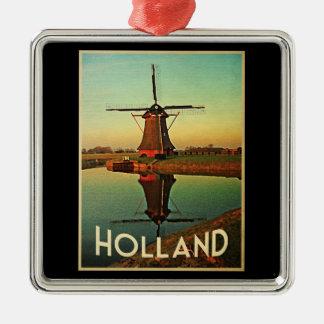 Holland Windmill Christmas Ornament