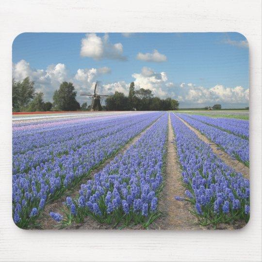 Holland Windmill Hyacinths Mouse Mat
