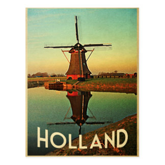 Holland Windmill Postcard