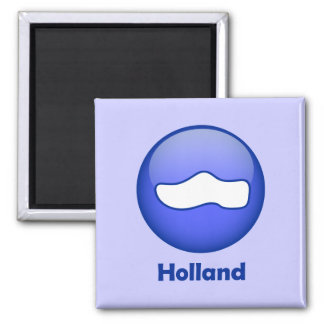 Holland Wooden Shoe Square Magnet