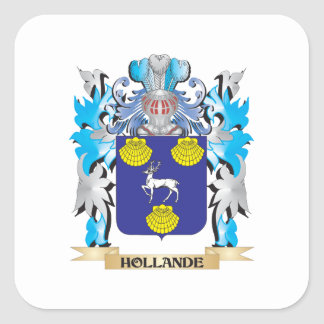 Hollande Coat of Arms - Family Crest Square Sticker