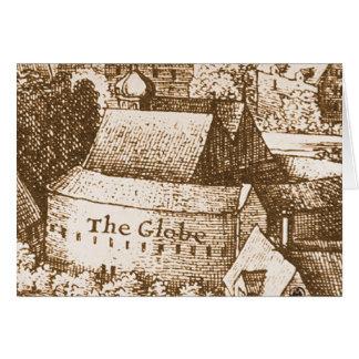 Hollar s Globe Theatre Greeting Card