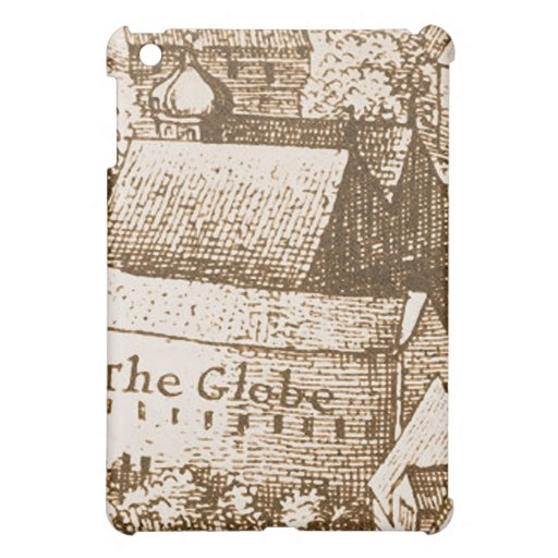 Hollar's Globe Theatre Engraving iPad Mini Cases