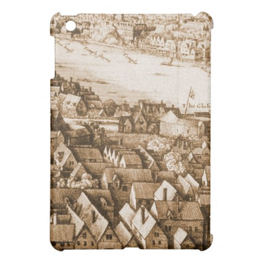 Hollar's Globe Theatre Long View of London Cover For The iPad Mini