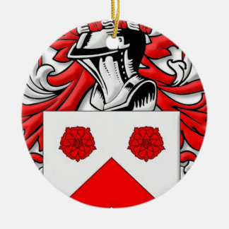 Holleman Coat of Arms Double-Sided Ceramic Round Christmas Ornament