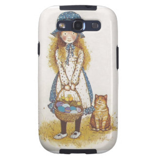 Hollie Hobby walking with her kitty. Samsung Galaxy SIII Cases