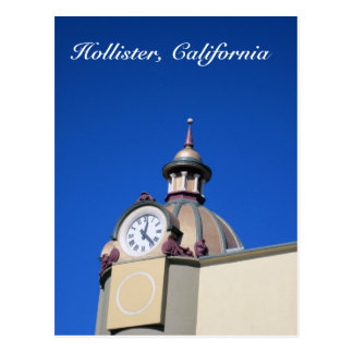 Hollister, CA Clock Tower Postcard