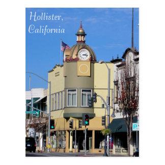 Hollister, CA Clock Tower Postcard