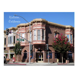 Hollister CA Historic Building at 5th & San Benito Postcard