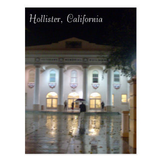 Hollister, CA Veterans' Memorial Building Postcard