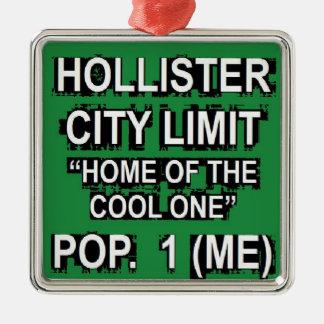 Hollister City Limit Christmas Ornament