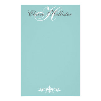 Hollister Monogram  Pale Blue Stationery Paper
