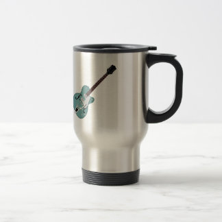 Hollow-bodied Electric Guitar bluegreen Stainless Steel Travel Mug