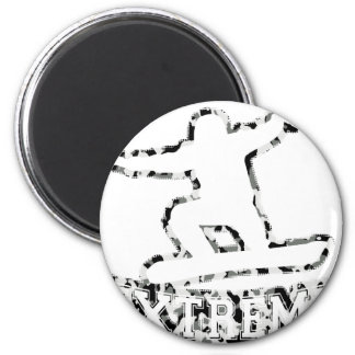 HOLLOW EXTREME SNOWBOARDER IN URBAN CAMO 6 CM ROUND MAGNET