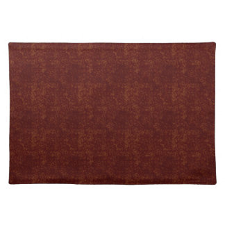 Hollow Gold Squares on Dark Red Place Mat