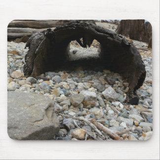 Hollow Log along Rocky Beach Mouse Pad