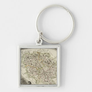 Hollow Maps Key Ring