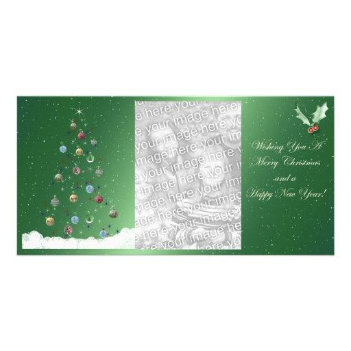 Hollow Tree Christmas Photocard Photo Card