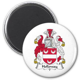 Holloway Family Crest 6 Cm Round Magnet